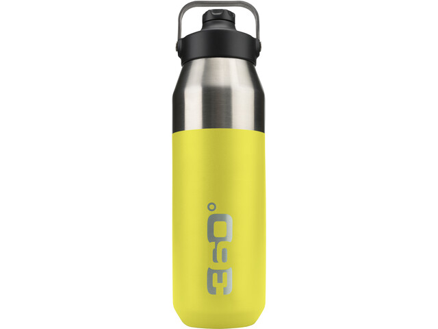 360° degrees Wide Mouth Insulated Drink Bottle with Sipper Cap 1000ml lime